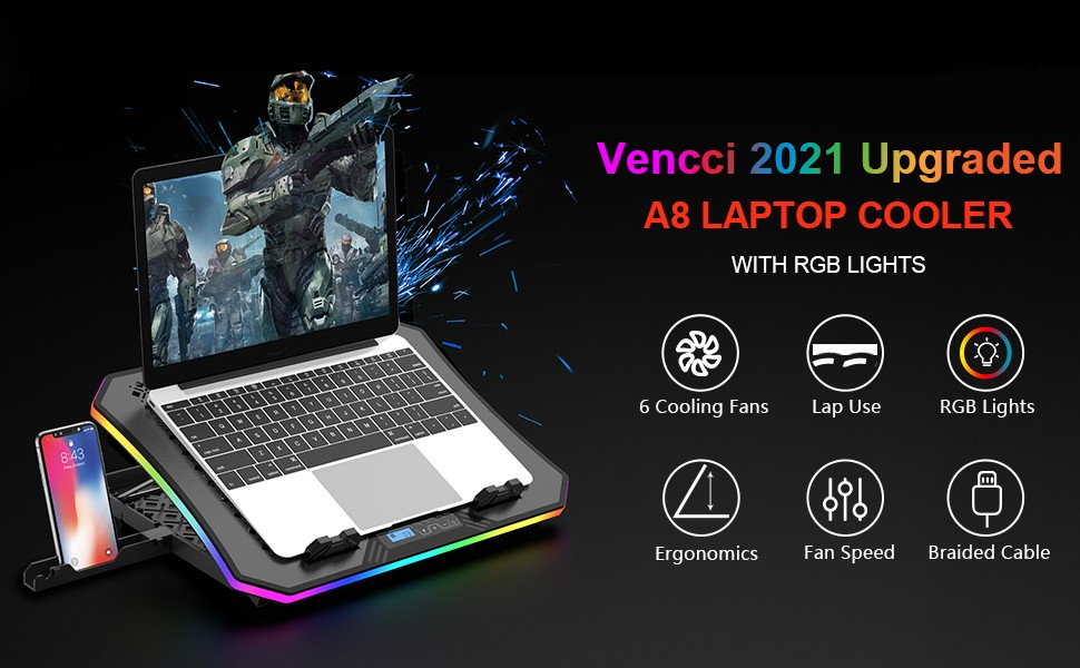 Top 5 best RGB Gaming laptop cooling pad under $40