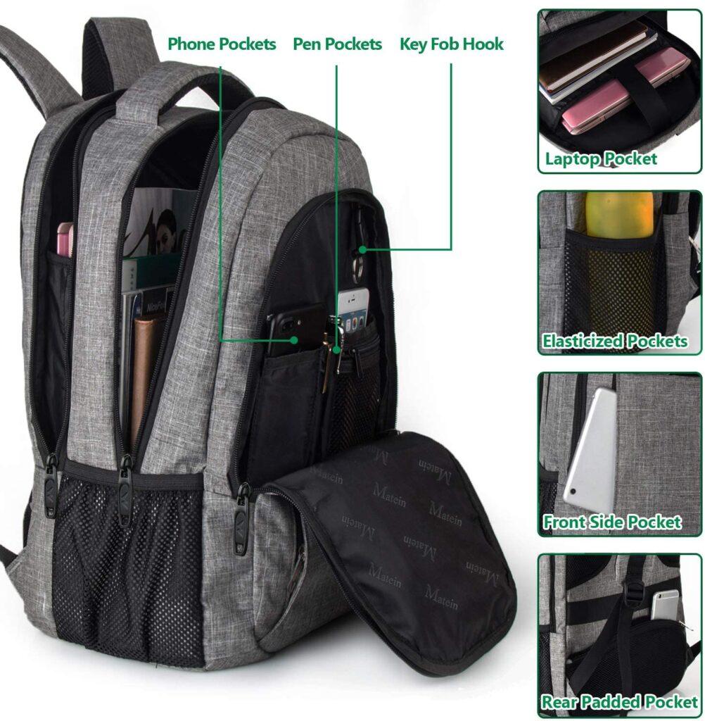 laptop backpacks pockets