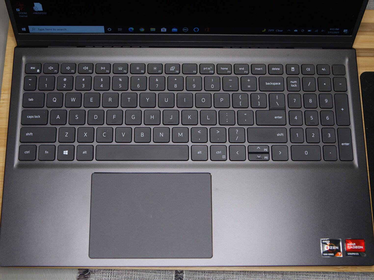 Dell Inspiron 15 AMD keyboard