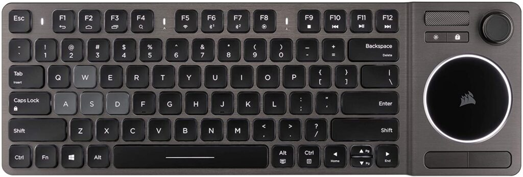 corsair keyboard with touchpad