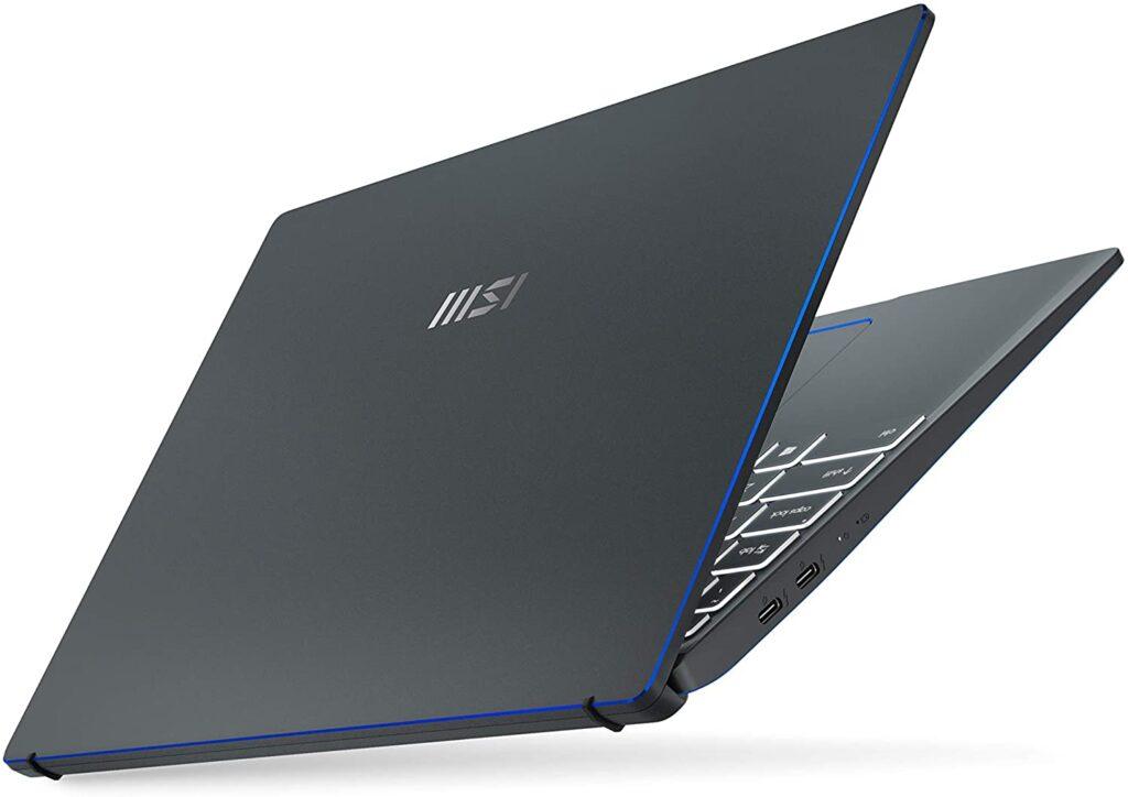 laptops with backlit keyboards msi prestige 14 folded